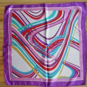 """🌿 Small 20"""" Square Scarf Neckerchief Purple Swirl"""